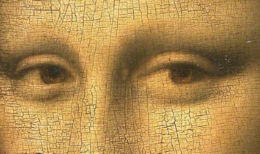 Mona Lisa's eyes from the Louvre