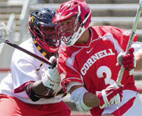 Rob Pannell playing lacrosse