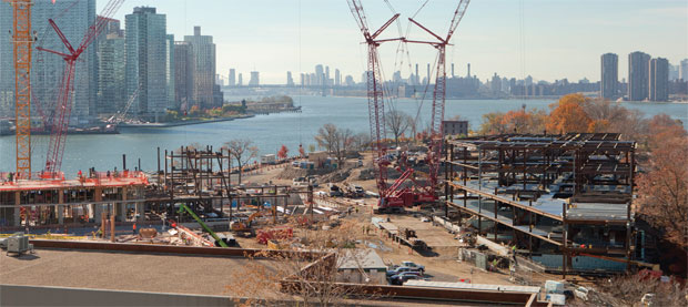 A view of the construction site in mid-November.
