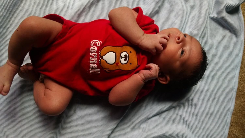 Baby in CU onsie