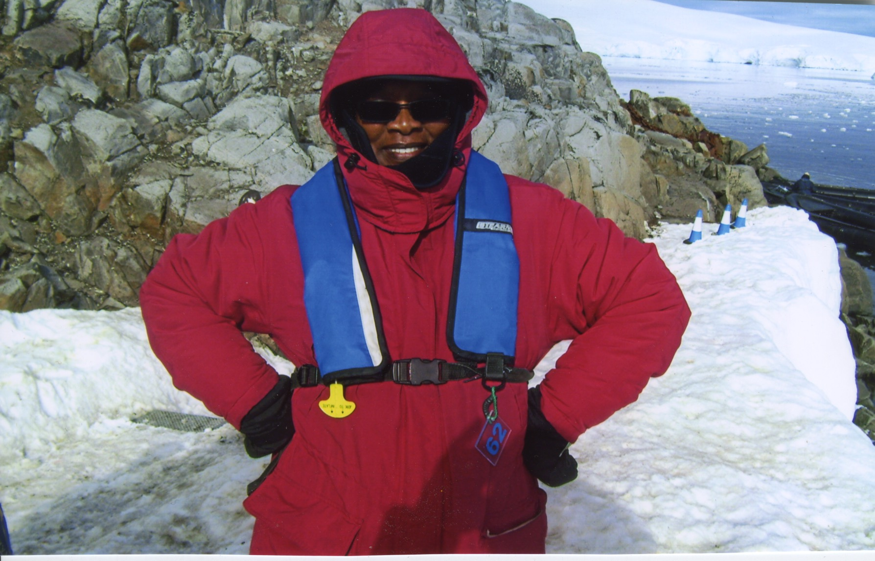 Patricia Sampson in Antartica
