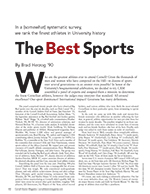 Magazine page image for The Best Sports