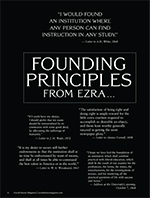 Magazine cover page for Founding Principles from Ezra
