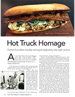 Magazine cover page for Hot Truck Homage