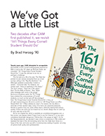 Magazine cover page for We've Got a Little List