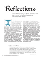 Magazine cover page for Reflections