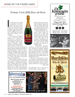 Magazine cover page for Wines of the Finger Lakes