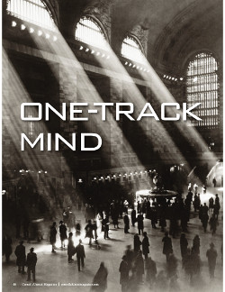 Magazine page image for one track mind