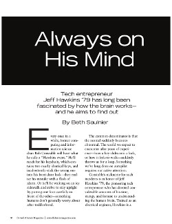 On his mind cover page