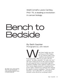 Magazine page image for bench to bedside