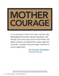Magazine page image for Mother Courage