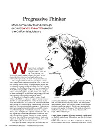 Magazine page image for Progressive thinker