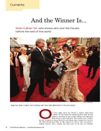 Magazine page image for And the Winner Is