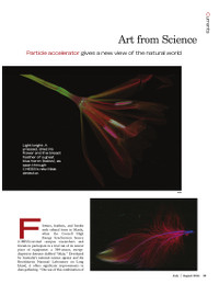 Magazine page image for art from science