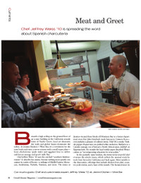 Magazine page image for meat and greet
