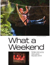 Magazine page image for what a weekend