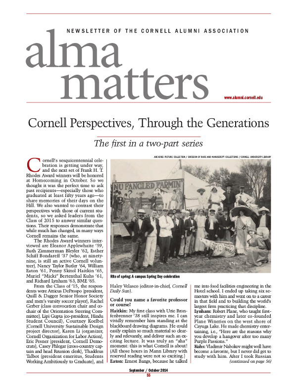 Alma Matters SO14 cover