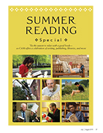 Magazine page image showcasing our summer reading special section