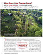 Magazine cover page for How does your garden grow?
