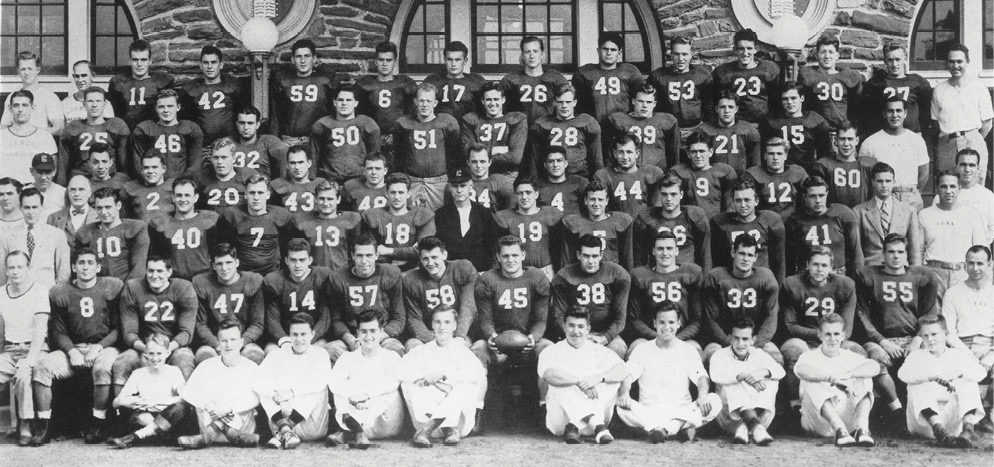 Gridiron greats: The 1940 Big Red football squad's official portrait
