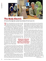 Magazine cover page for The Body Electric