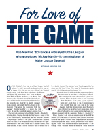 For the love of the game cover page