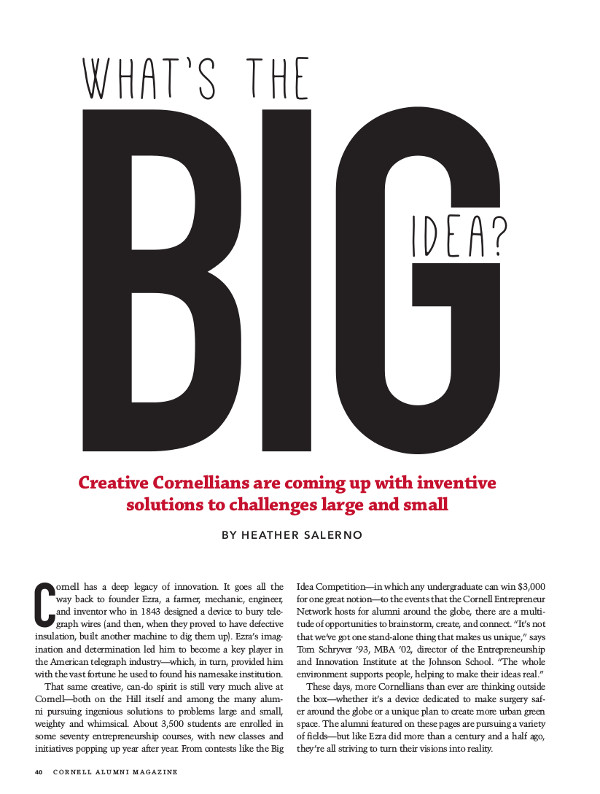 What's the Big Idea cover page