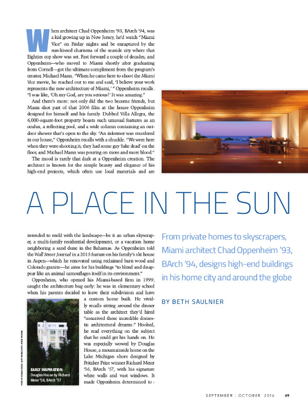 A place in the sun cover page