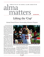 Magazine cover page for Alma Matters