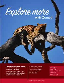 Advertisement to explore more with Cornell Alumni Association Travel program