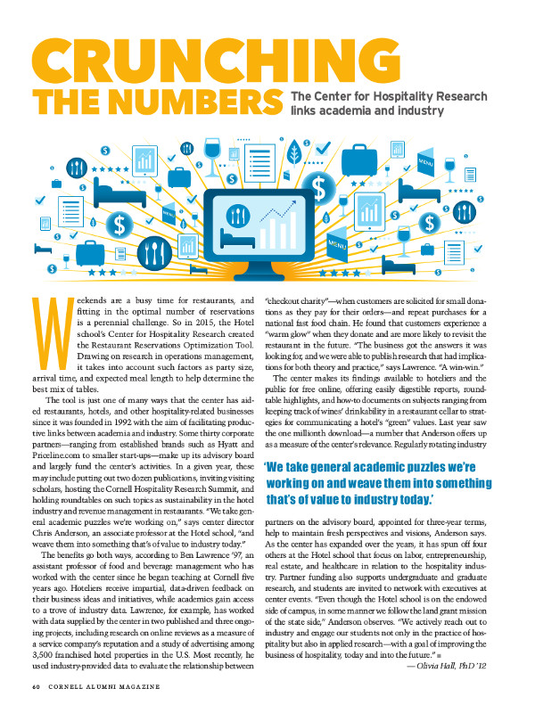 Magazine page of Crunching the numbers