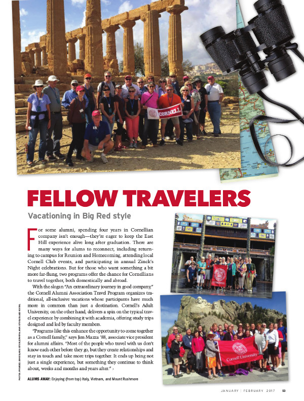 Magazine page of Fellow Travelers