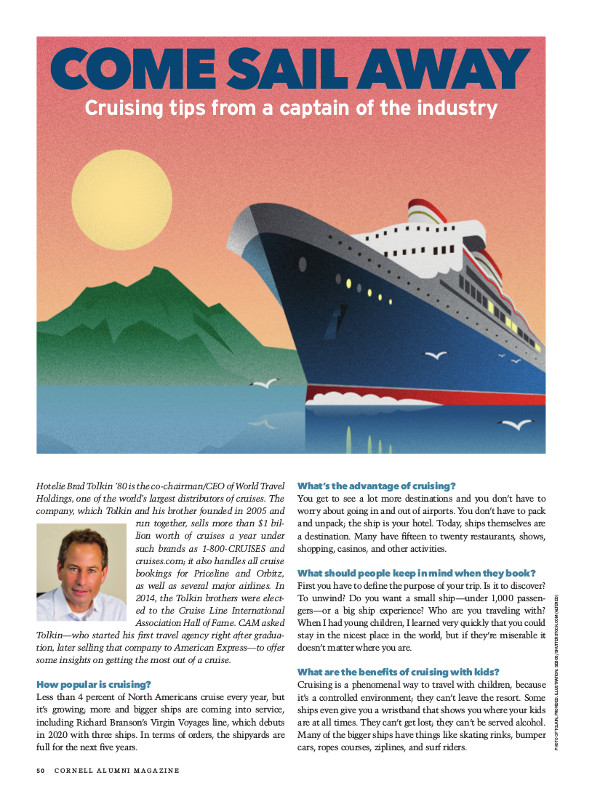 Magazine page of come sail away