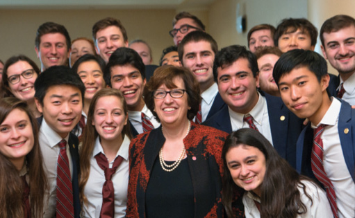 Martha Pollack and students