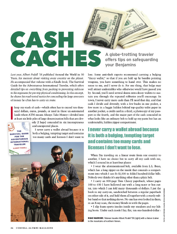 Magazine page of Cash Caches