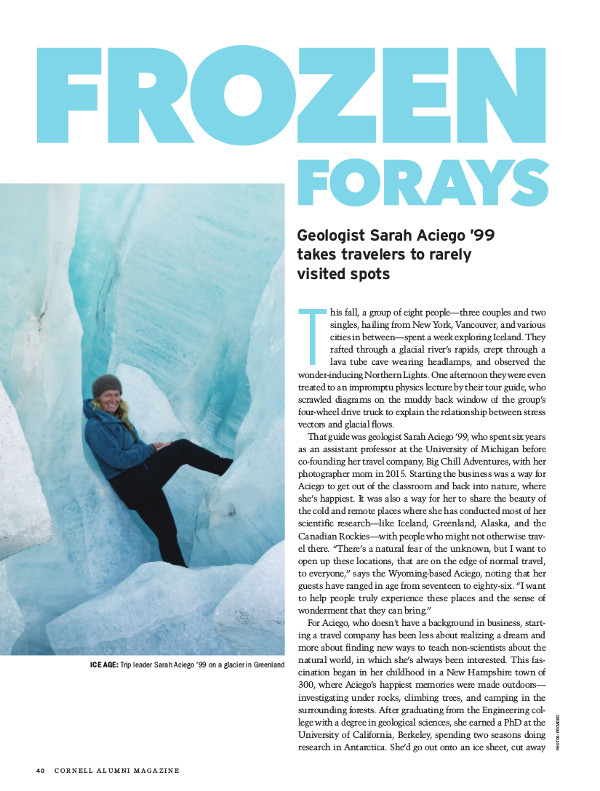 Magazine page of Frozen Forays