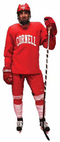 O'Byrne in Cornell hockey gear