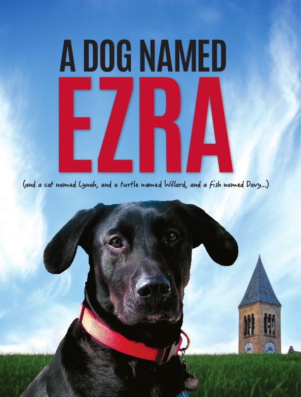 Dog named Ezra cover page