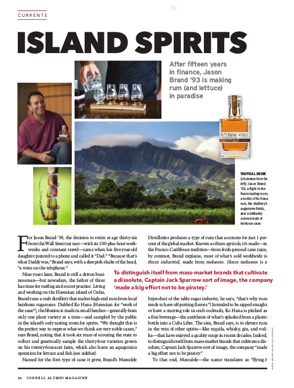 Magazine page image for Island Spirits