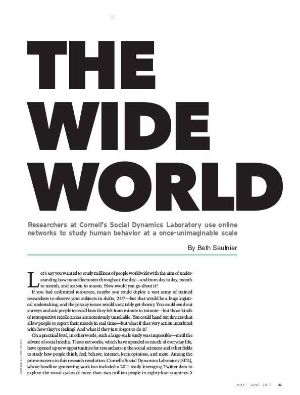 Magazine page image for the Wide World