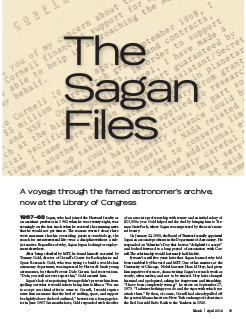 Magazine page image of Sagan files