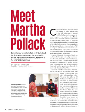 Meet Martha Pollack cover page