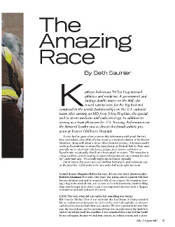 Amazing Race cover page