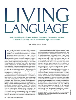 Living Language cover page