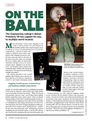 On the ball cover page