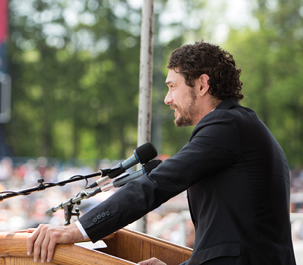 James Franco at the podium