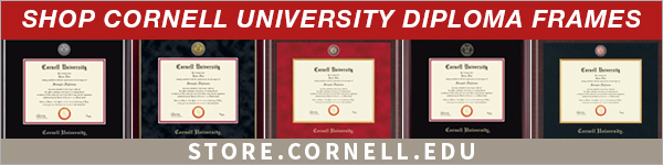 Advertisement for Cornell Store diploma frames.