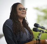 Ava Duvernay speaks at the podium