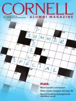The cover of the July/August issue, featuring a blank crossword for our puzzle special