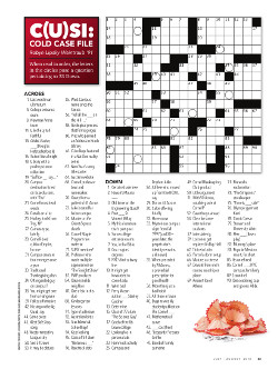 Magazine page image for crossword